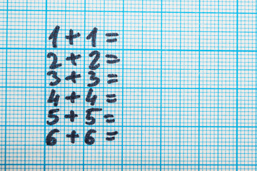 Math problems on paper