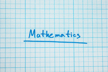 """The word """"mathematics"""" is close-up."""