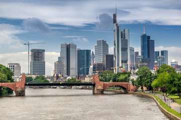 The CBD of Frankfurt am Main Fototapete