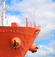 Frachtschiff im Hamburger Hafen