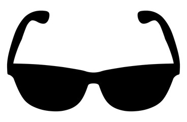 Black glasses on white background, vector illustration
