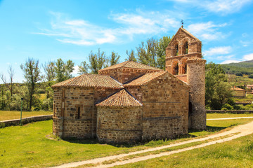 Romanesque church. San Salvador de Cantamuda, Palencia. Spain