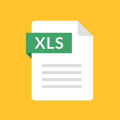 XLS file icon. Spreadsheet document type. Modern flat design graphic illustration. Vector XLS icon