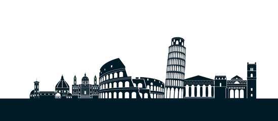 italy silhouette Rome Fotomurales