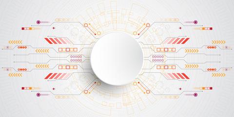 Vector abstract technology concept.