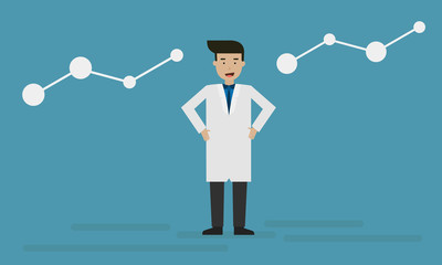 Smart Doctor character info graphic for presentation.