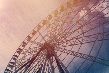 ferris wheel with sky background