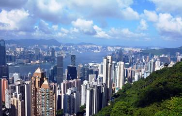 Hong Kong. Image of Hong Kong skyline view from Victora peak.