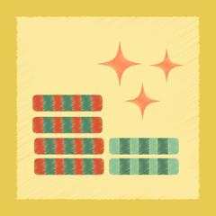 flat shading style icon poker chips