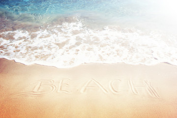 Schrift auf dem Sand
