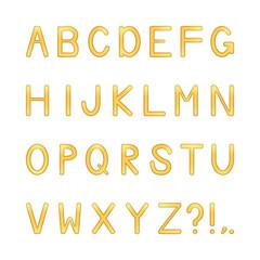 vector shiny letters set