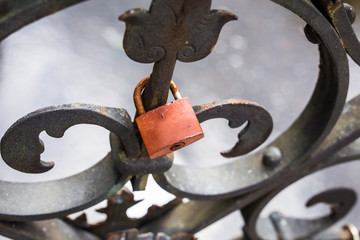 Love lock with free place.