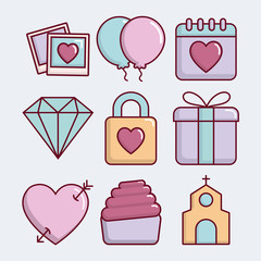 wedding related icons