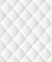 Quilted seamless Pattern With Waves. EPS 10 vector