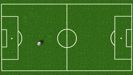 soccer field / football field top view with green natural grass - soccer background