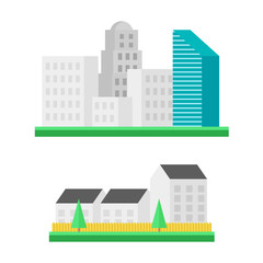 Urban landscapes vector illustration