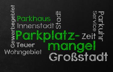 Parkplatzmangel Schlagwort wolke Schlagwortwolke cloud wortwolke tafel