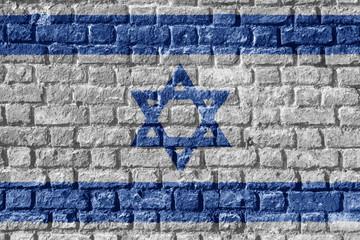 Israel Flag Painted on brick wall