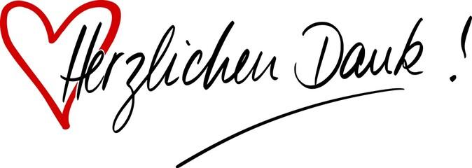 Handschrift Herzlichen Dank