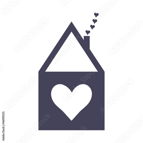 Strange Home Sweet Home Icon Or Vector Label House Symbol With A Home Remodeling Inspirations Genioncuboardxyz