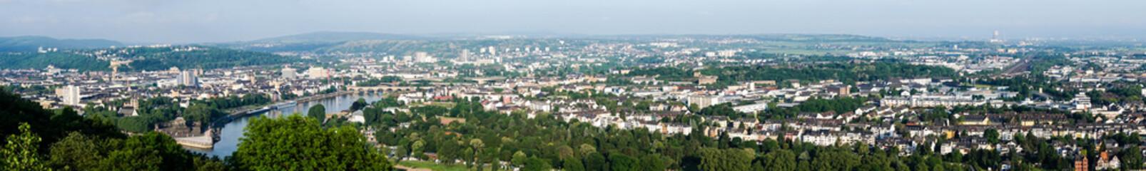 Panorama von Koblenz mir deutschen Eck