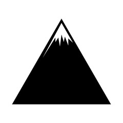 mountains silhouette vector symbol icon design. Beautiful illustration isolated on white background