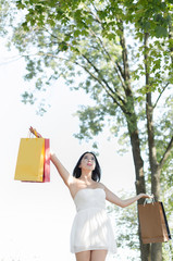 woman spending first salary