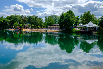 Nidernberg lake with reflection