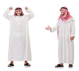 Arab man isolated on white background