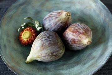 Still life with fresh summer figs
