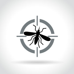 mosquito target icon on white background