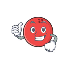 Proud bowling ball character cartoon