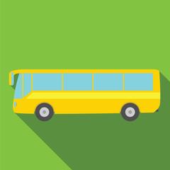 Bus icon. Flat design. Vector illustration.