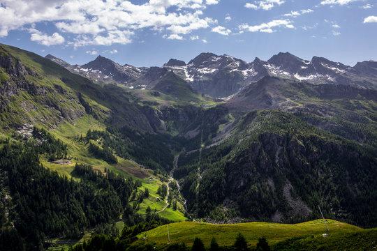 Panorama monte Rosa Valle D'Aosta