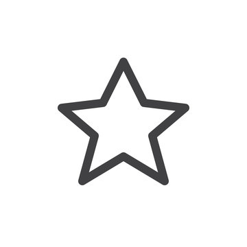 Star line simple icon, outline vector sign, linear style pictogram isolated on white. Favorite symbol, logo illustration. Editable stroke. Pixel perfect vector graphics
