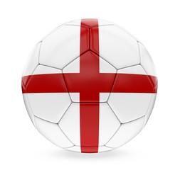 Soccer Ball England Flag Isolated