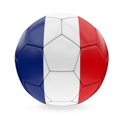 Soccer Ball France Flag Isolated