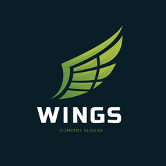 wing logo template. vector illustration