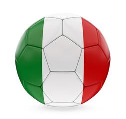 Soccer Ball Italy Flag Isolated