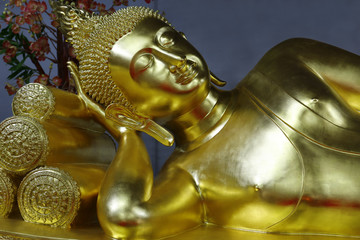 statue of buddha lay down