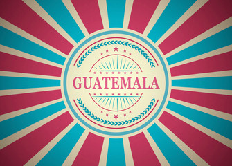 Guatemala Retro Vintage Style Stamp Background