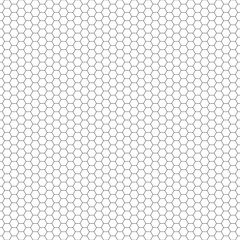 Vector seamless pattern. Hexagon grid texture. Black-and-white background. Monochrome honeycomb design. Vector EPS10
