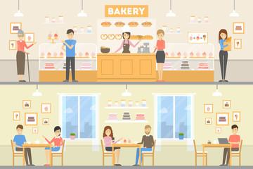 Bakery cafe set.