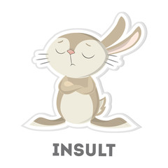 Isolated insulted rabbit.