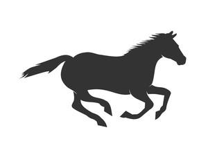 Beautiful Running Horse Silhouette