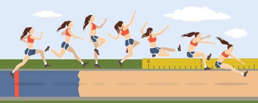 Triple jump moves.