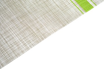 fabric stripe on white background