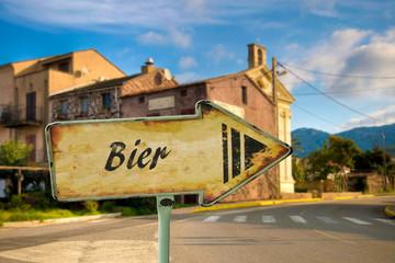 Schild 198 - Bier