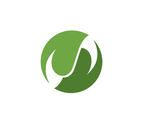 Vector leaves green nature logo a