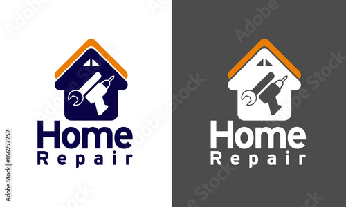 home repair, logo design, construction, repair, tools, logo design ...